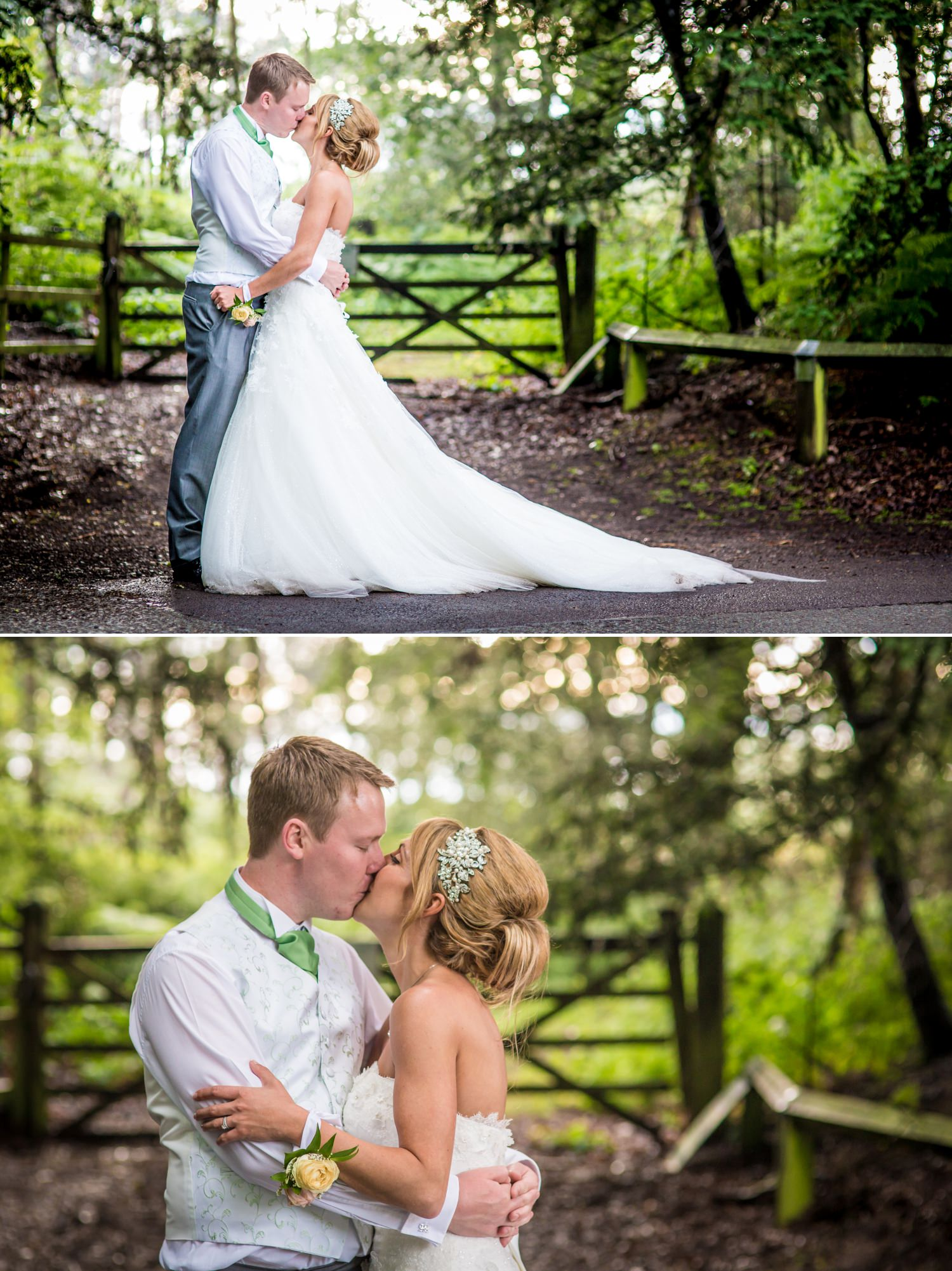 Wedding photography portraits in grounds of Cheshire venue, Peckforton Castle