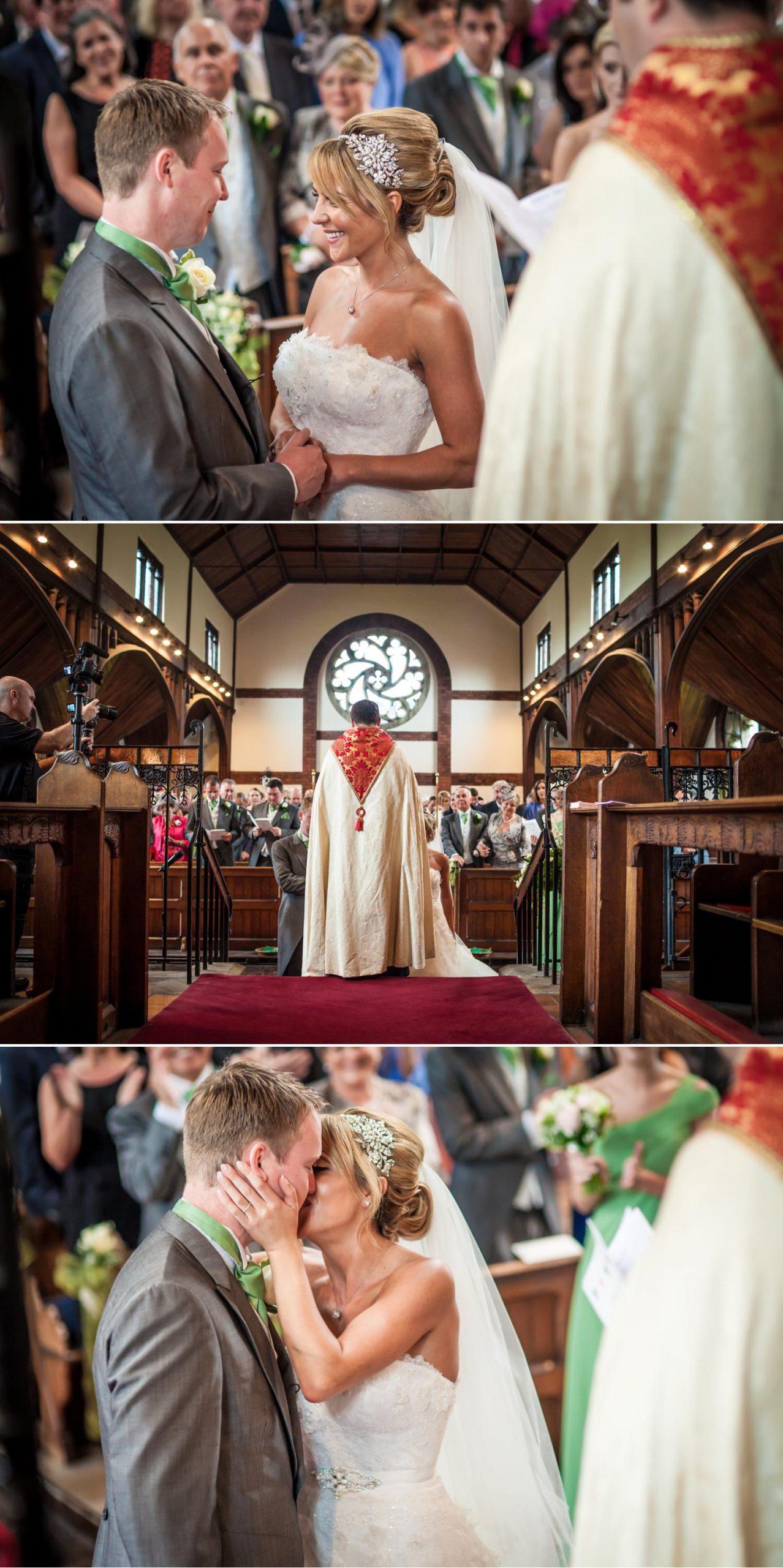 Peckforton Castle Wedding Photograp of ceremony in Cheshire