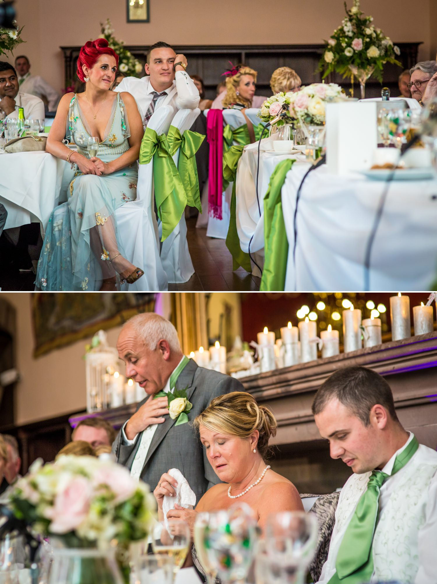 Peckforton Castle Wedding Photography of speeches in Cheshire