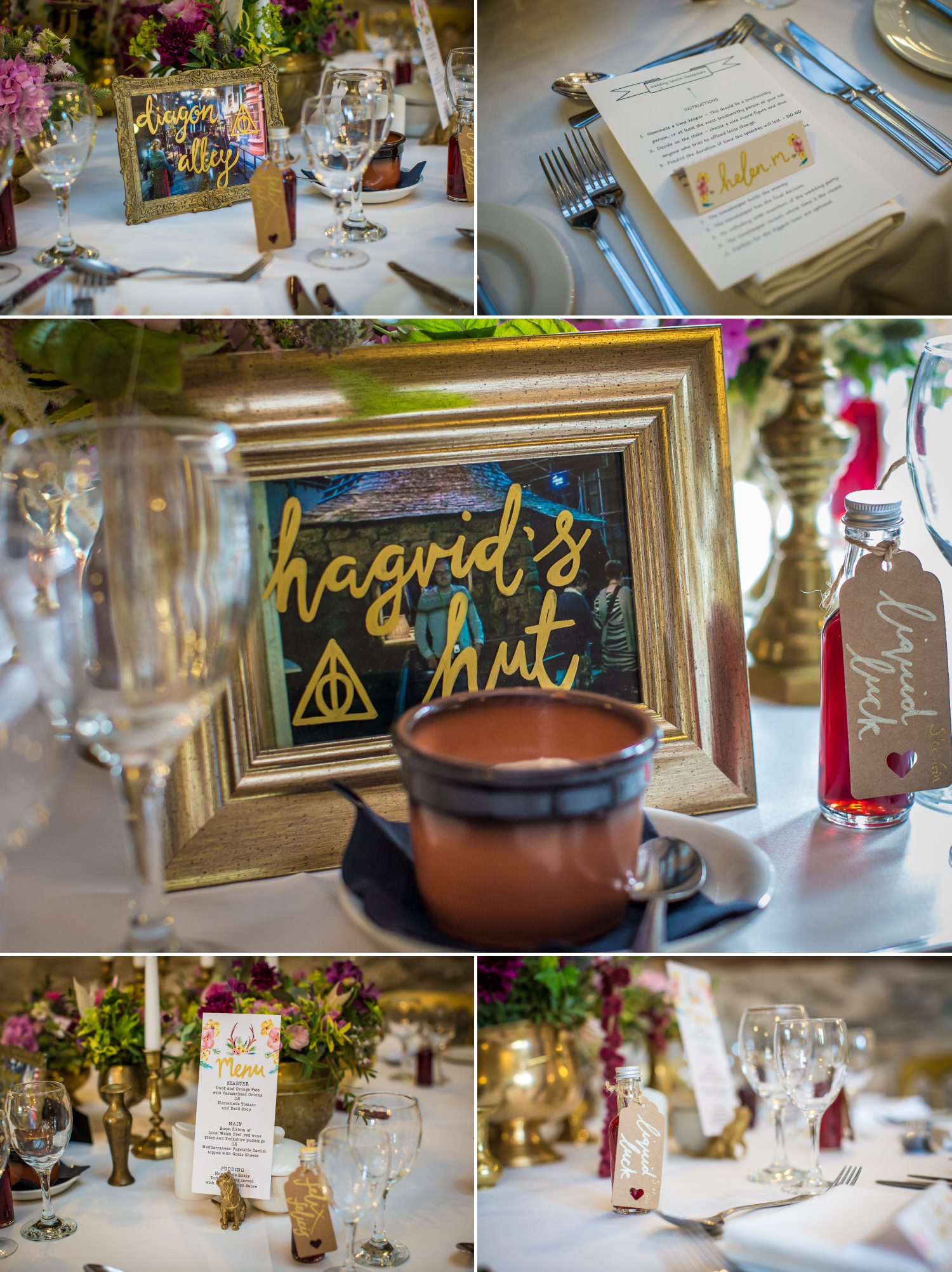 Harry potter themed wedding photograph at Plas Isaf