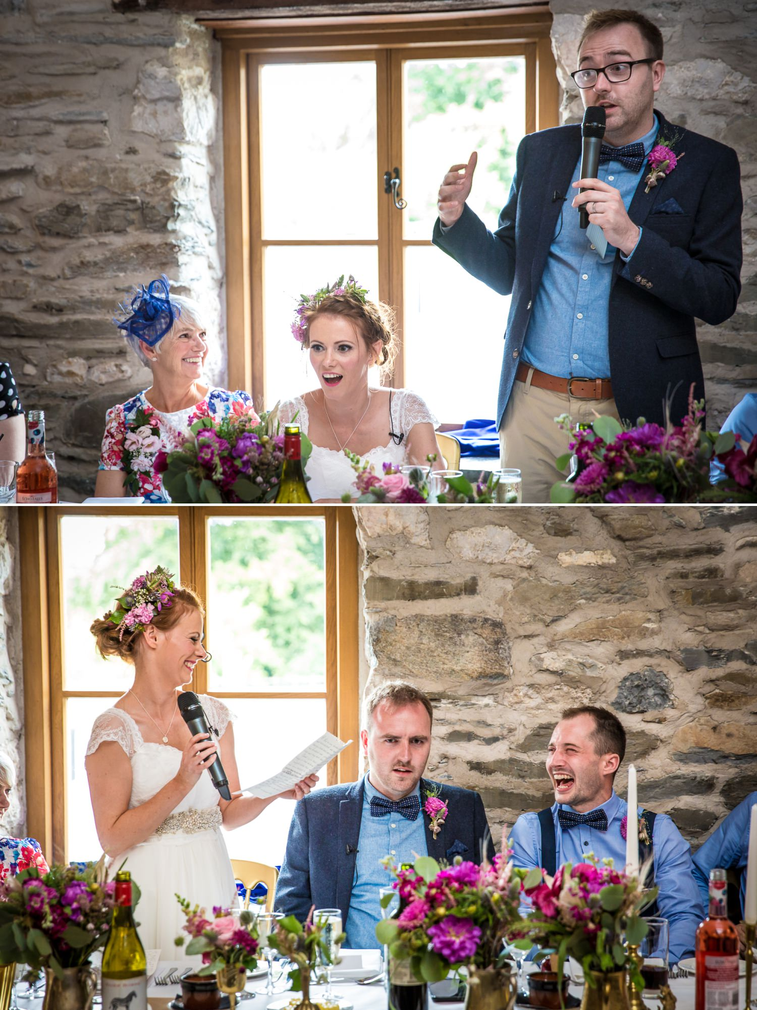 Speeches wedding photograph at Plas Isaf