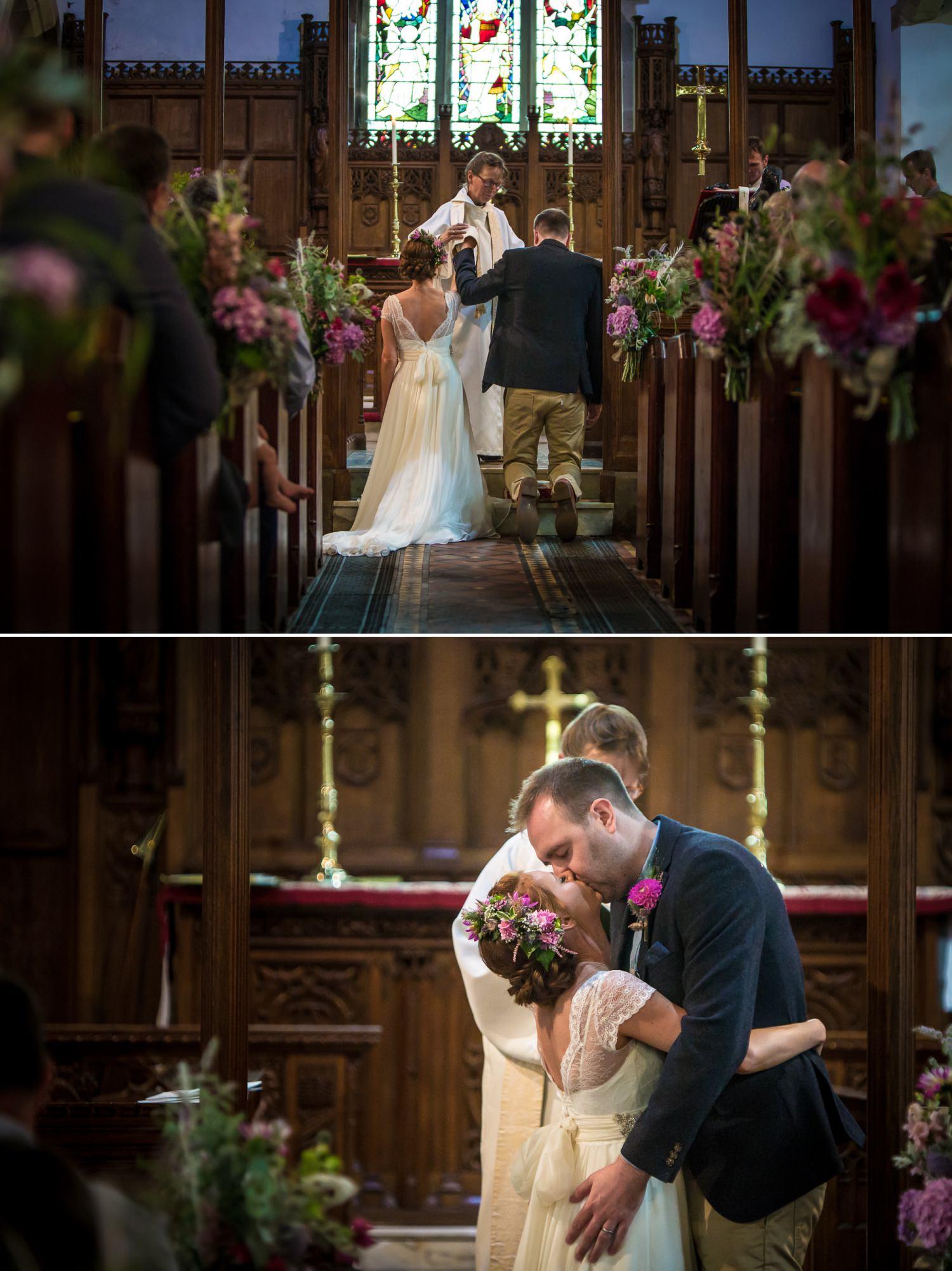 Wedding photographer Plas Isaf church ceremony
