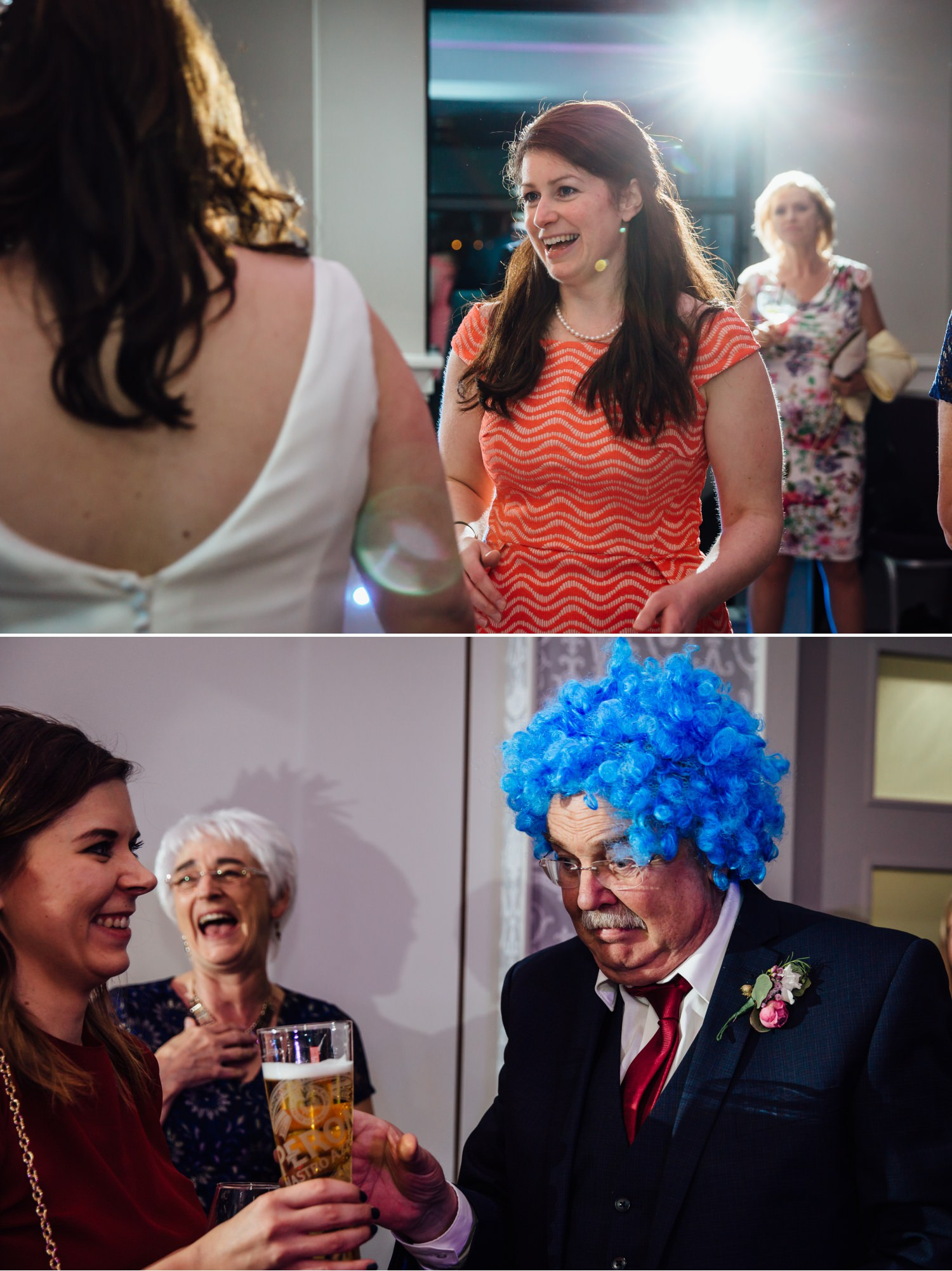 Wedding Photograph of evening dancing at Quay Hotel, North Wales