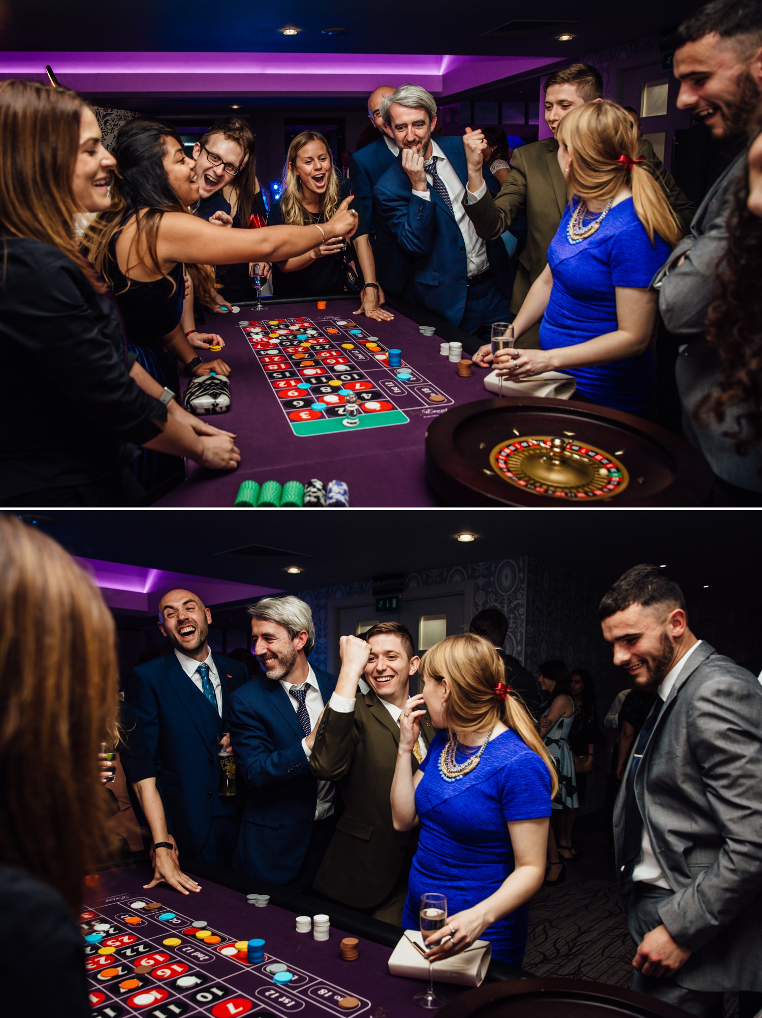 Wedding Photograph of table games at Quay Hotel, North Wales