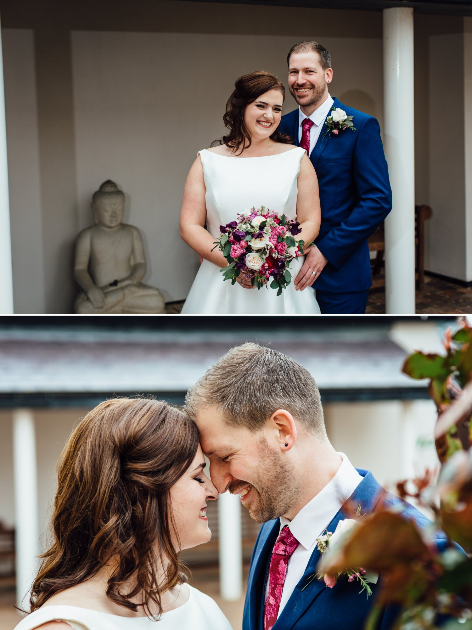 Wedding Photograph of couple at Quay Hotel, North Wales