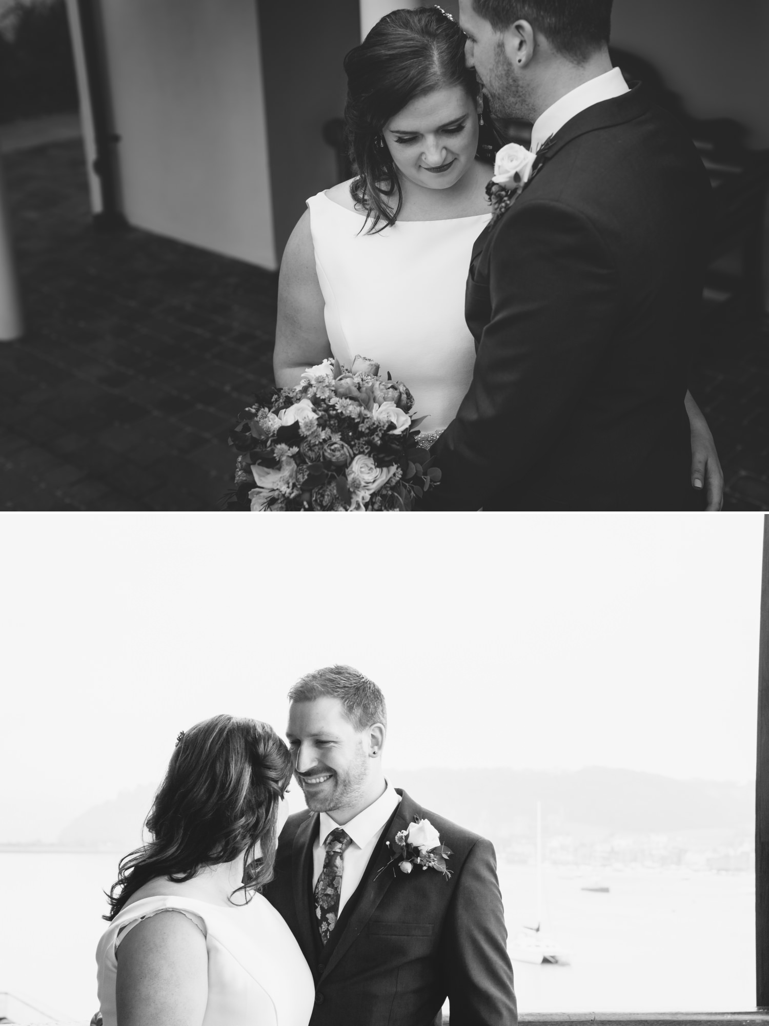 Wedding Photograph in black and white at Quay Hotel, North Wales