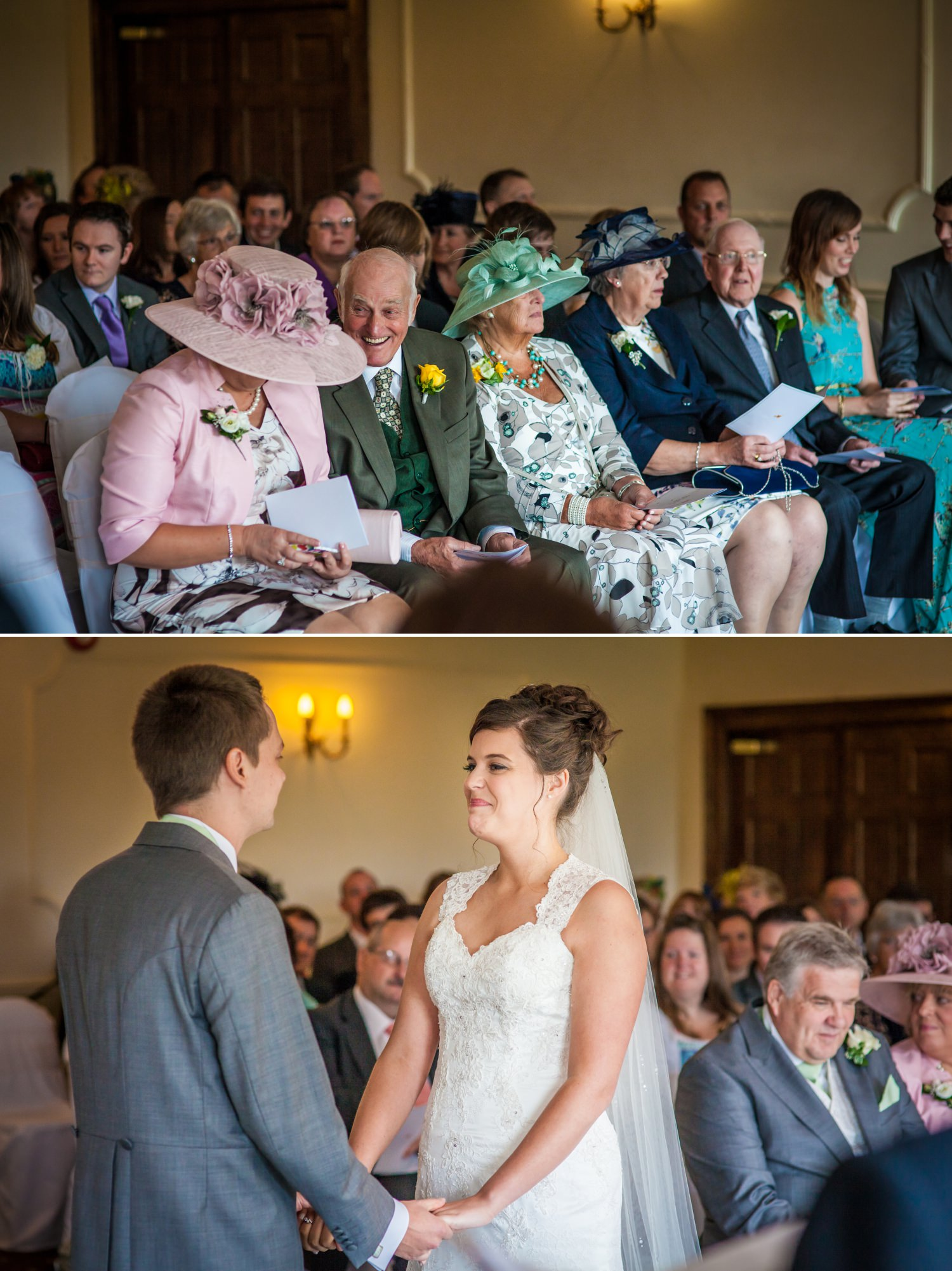 Wedding photography of a wedding ceremony at Willington Hall, Cheshire