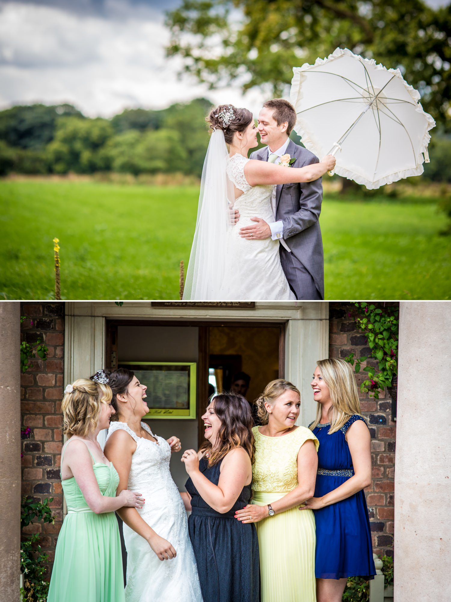 Wedding Photograph of bride and groom at Willington Hall, Cheshire