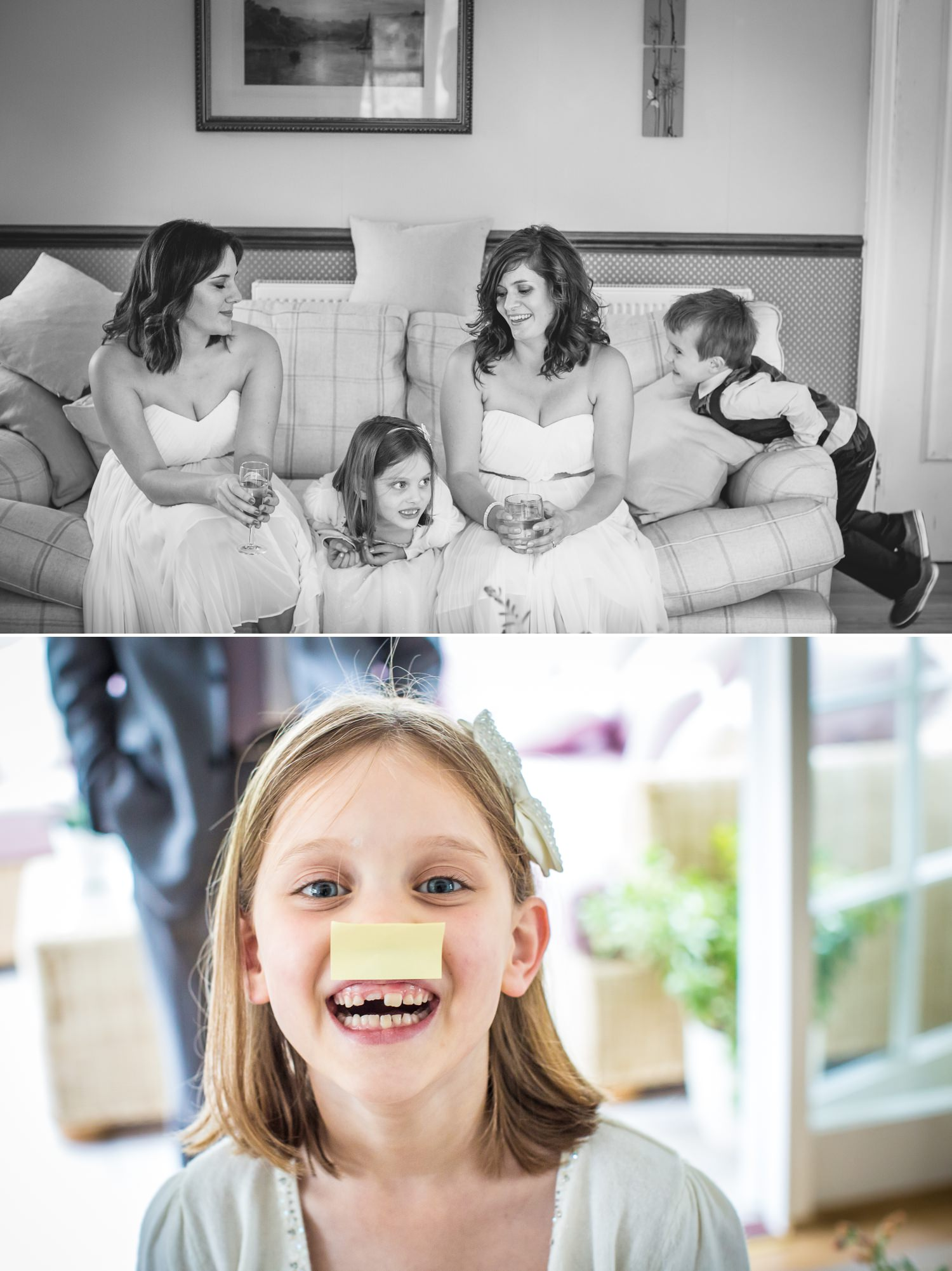 Wedding photograph of getting ready for the Wirral wedding