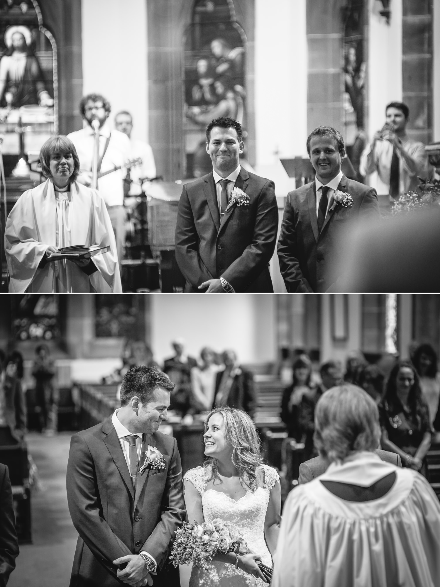 Wedding ceremony photography at St Mary Church, Upton in the Wirral