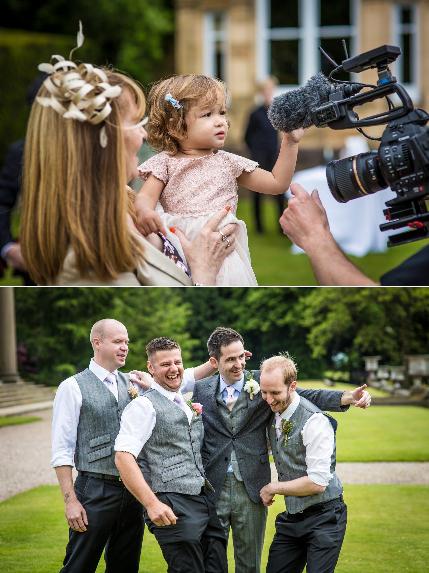 Wedding Photograph of the groomsmen at Cheshire wedding venue, Tatton Park