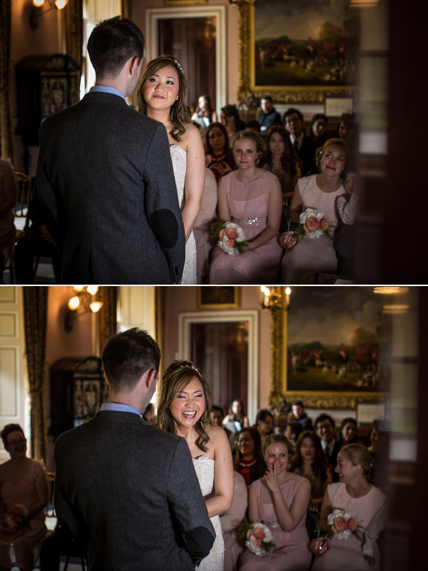 Wedding Photograph of bride and groom saying their vows in Tatton Park