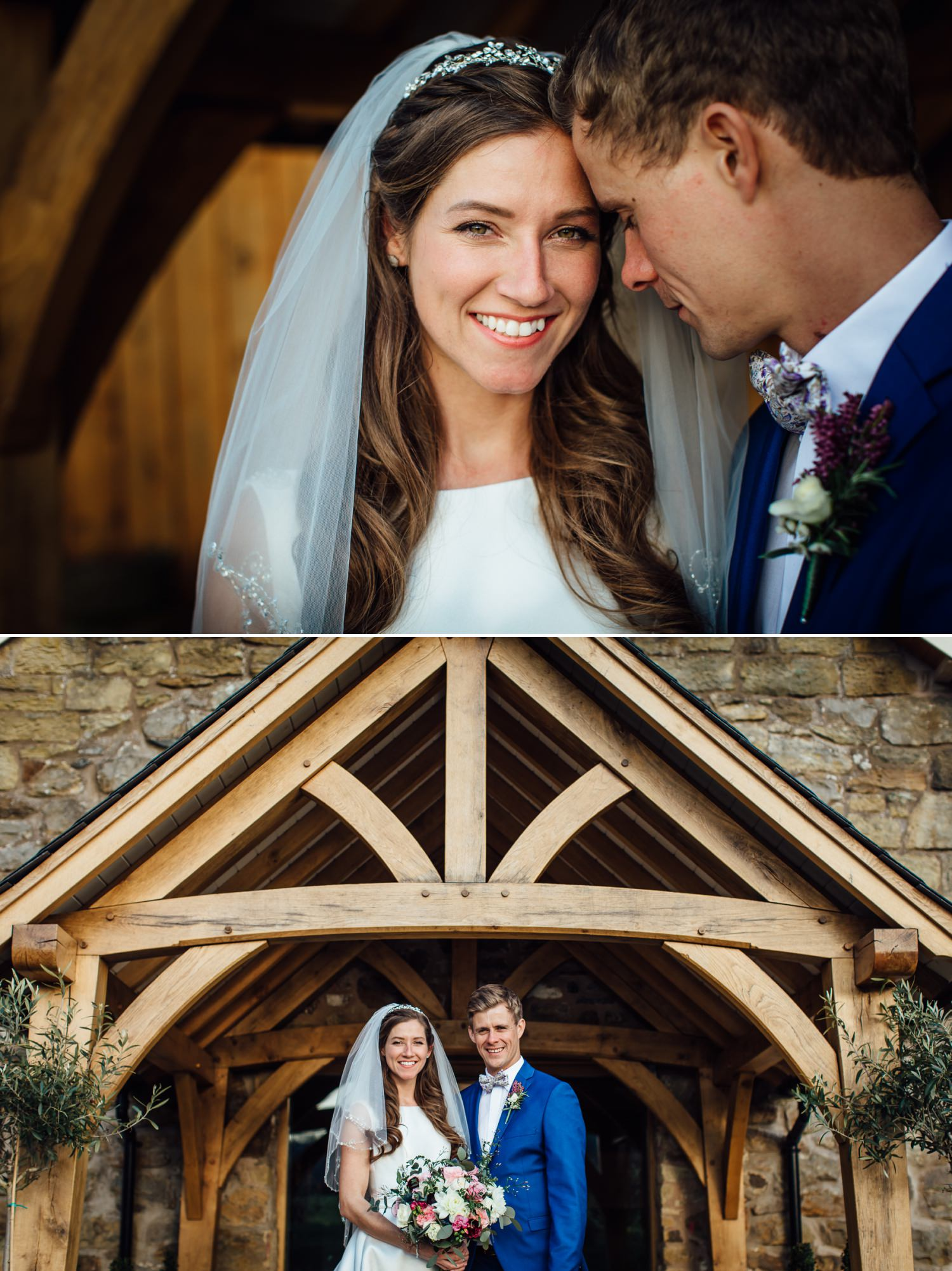 Wedding photography portraits in Tower Hill Barns