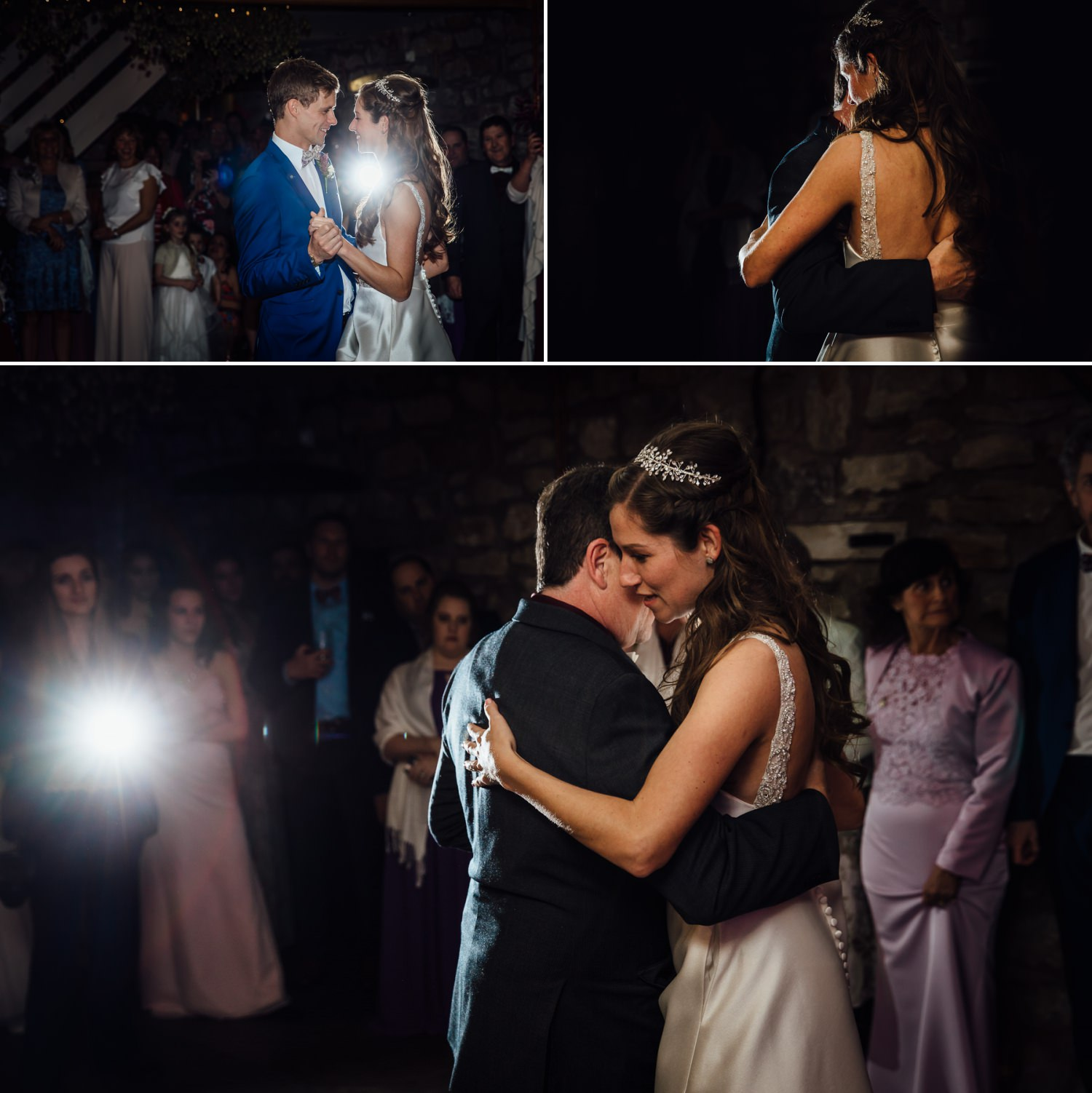 Wedding photography first dance in Tower Hill Barns