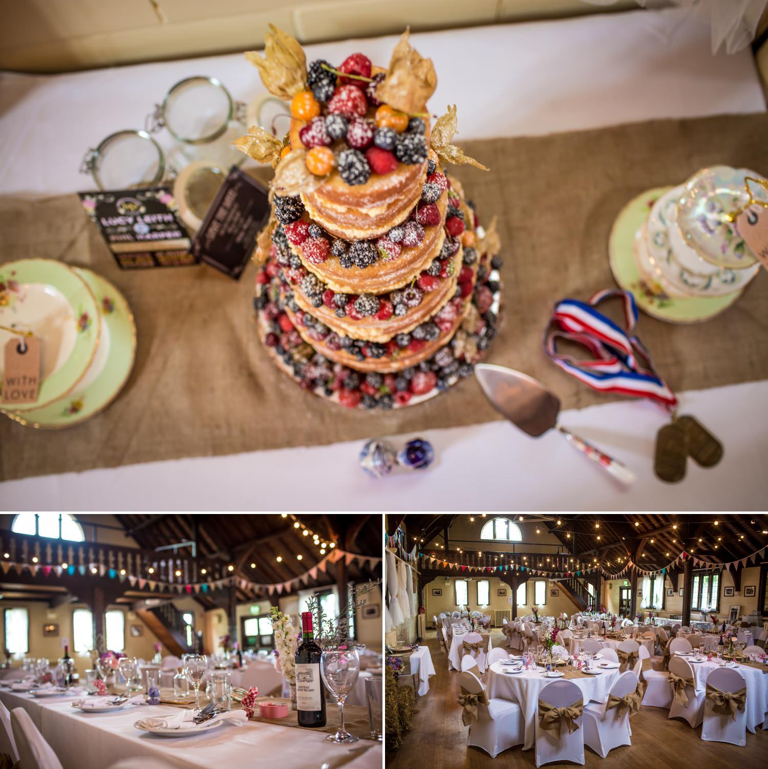 Wedding cake at Worfield village hall