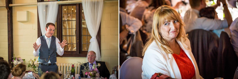 Wedding speeches at Worfield Village Hall