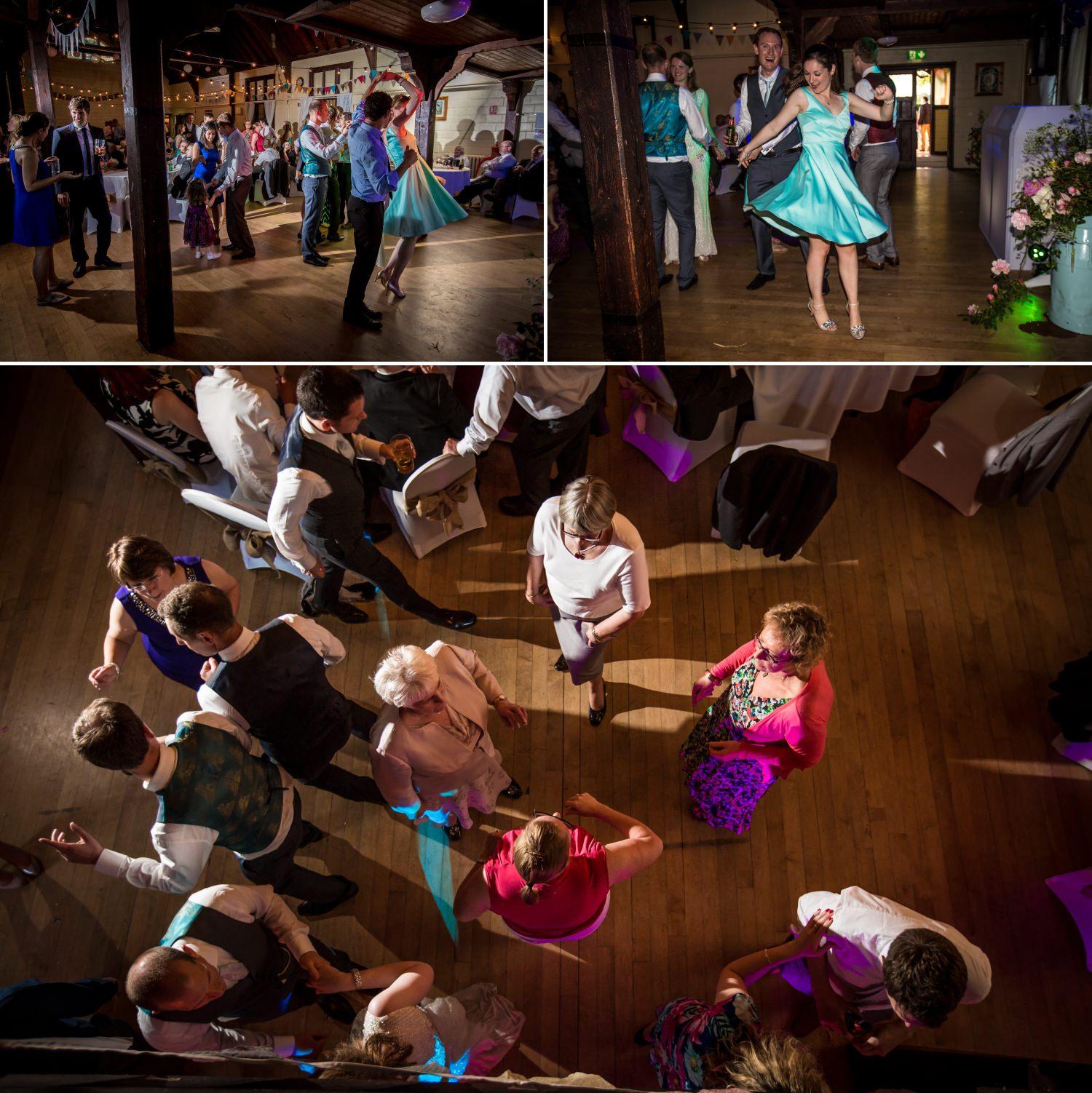 Wedding dancing at Worfield Village Hall