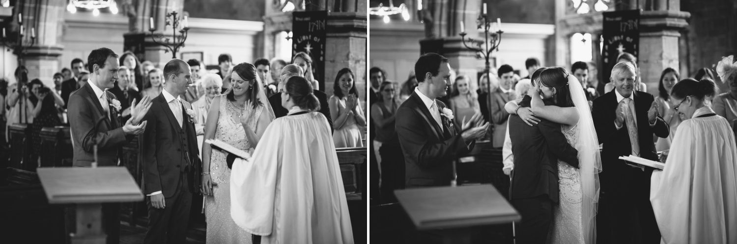 Wedding ceremony at St Peters Church Worfield