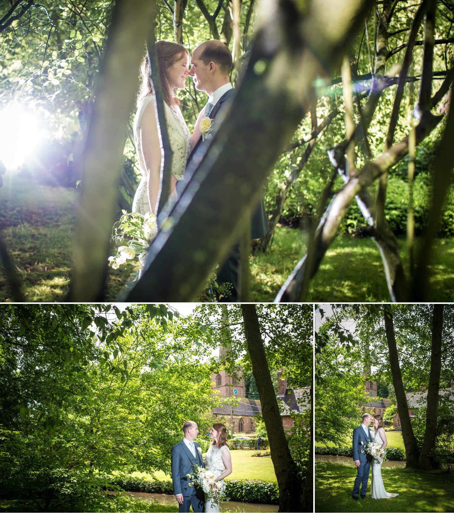 wedding photography portraits at Lower Hall Worfield