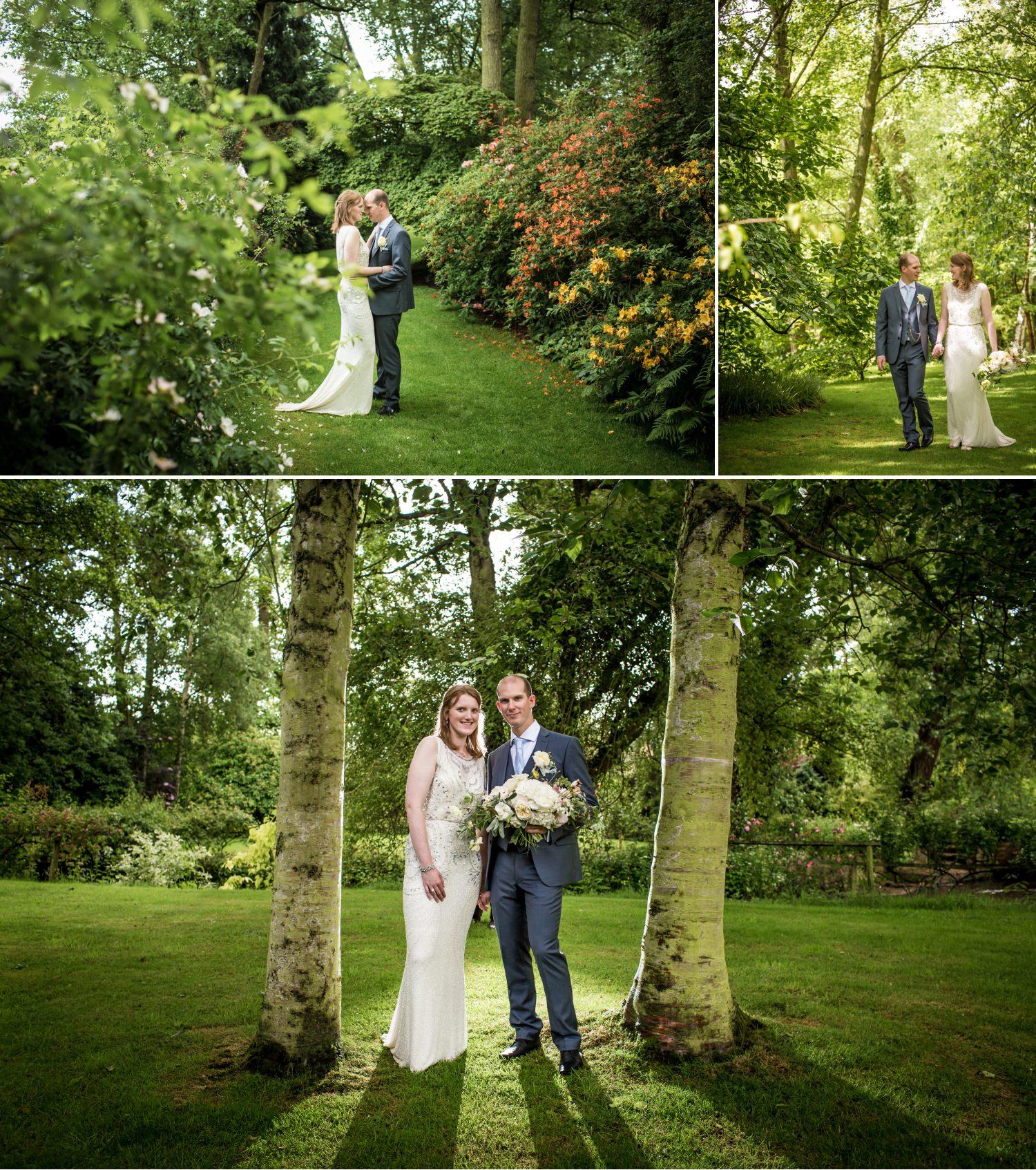 Wedding photography at Lower Hall  worfield gardens