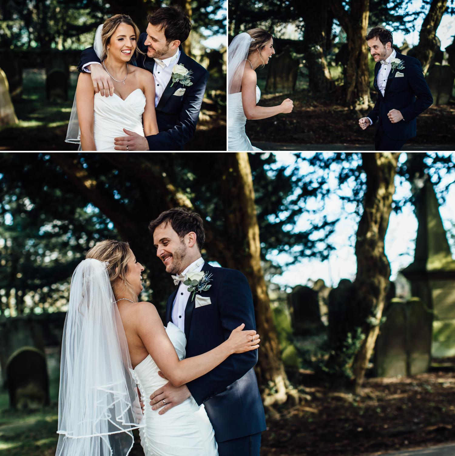 Couple portrait photograph in St Mary Church Wrexham