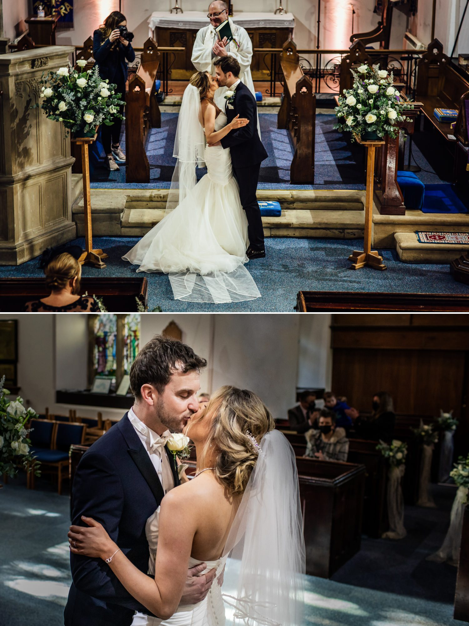 First kiss photograph in St Mary Church Wrexham