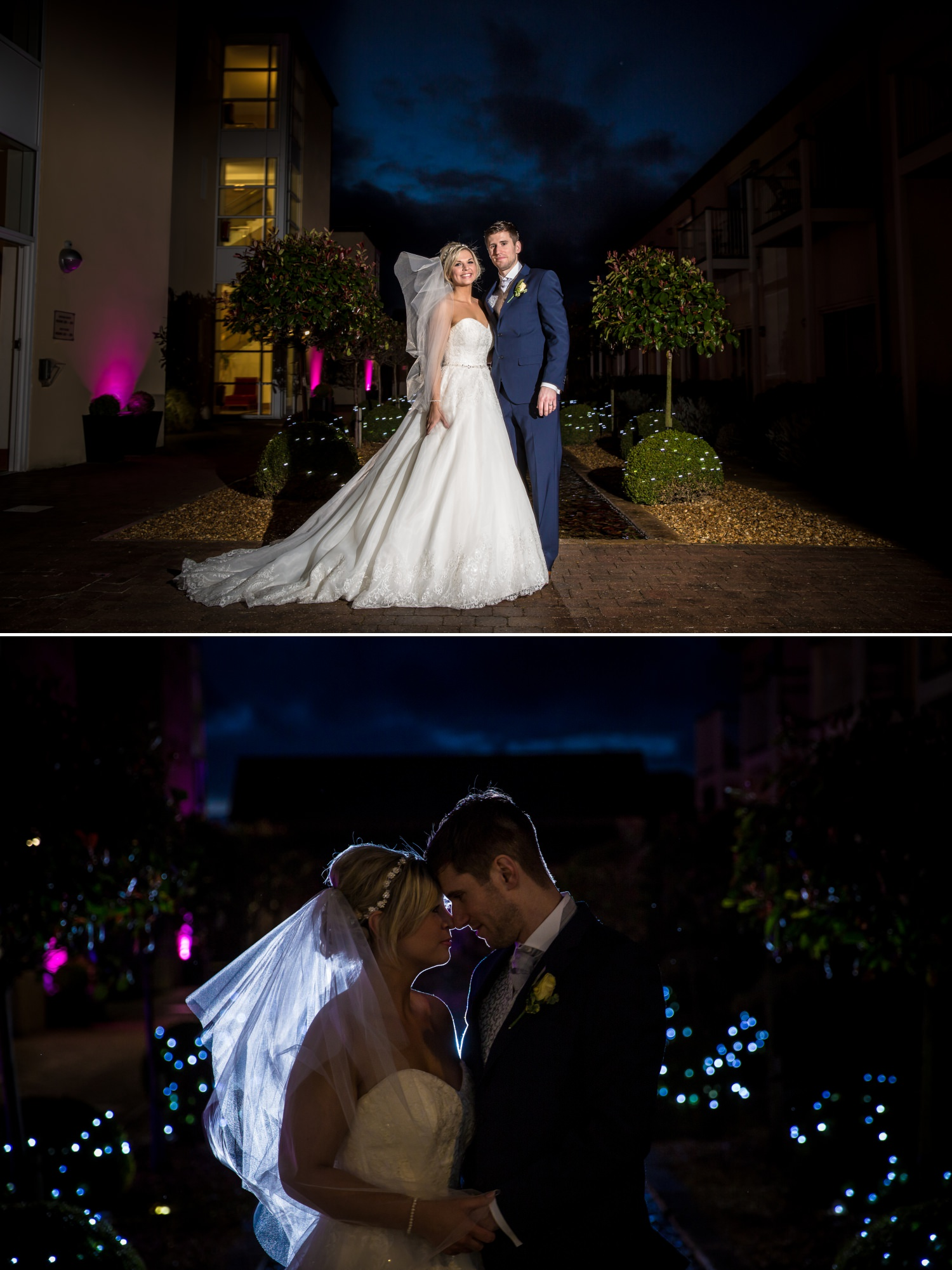 Wedding photography portrait at Quay Hotel, North Wales