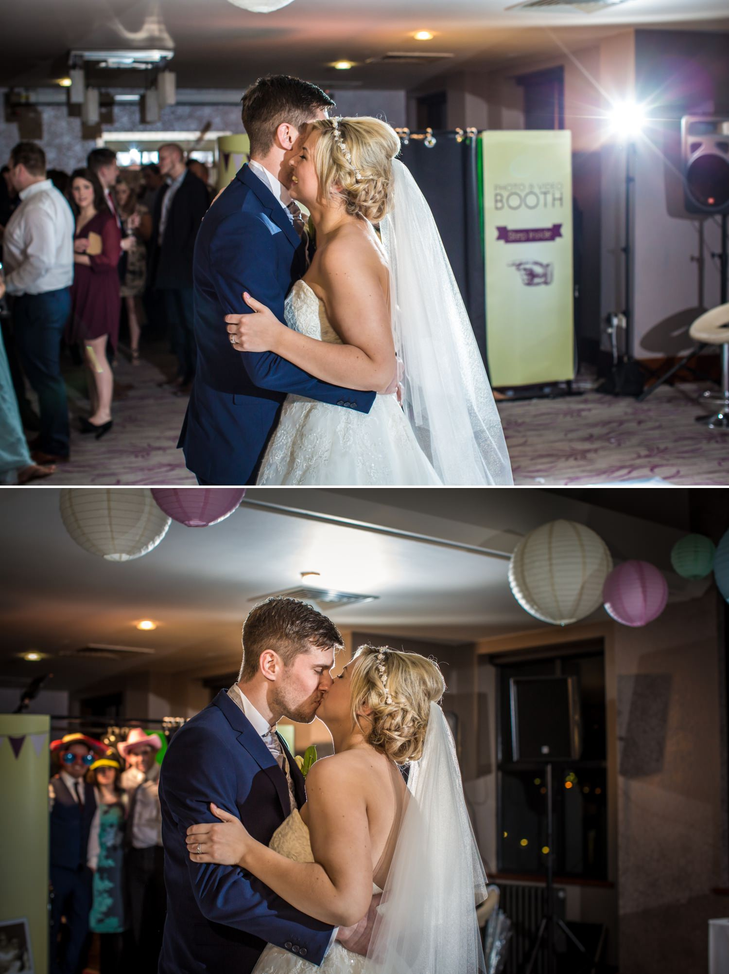 Wedding photography of first dance at Quay Hotel, North Wales