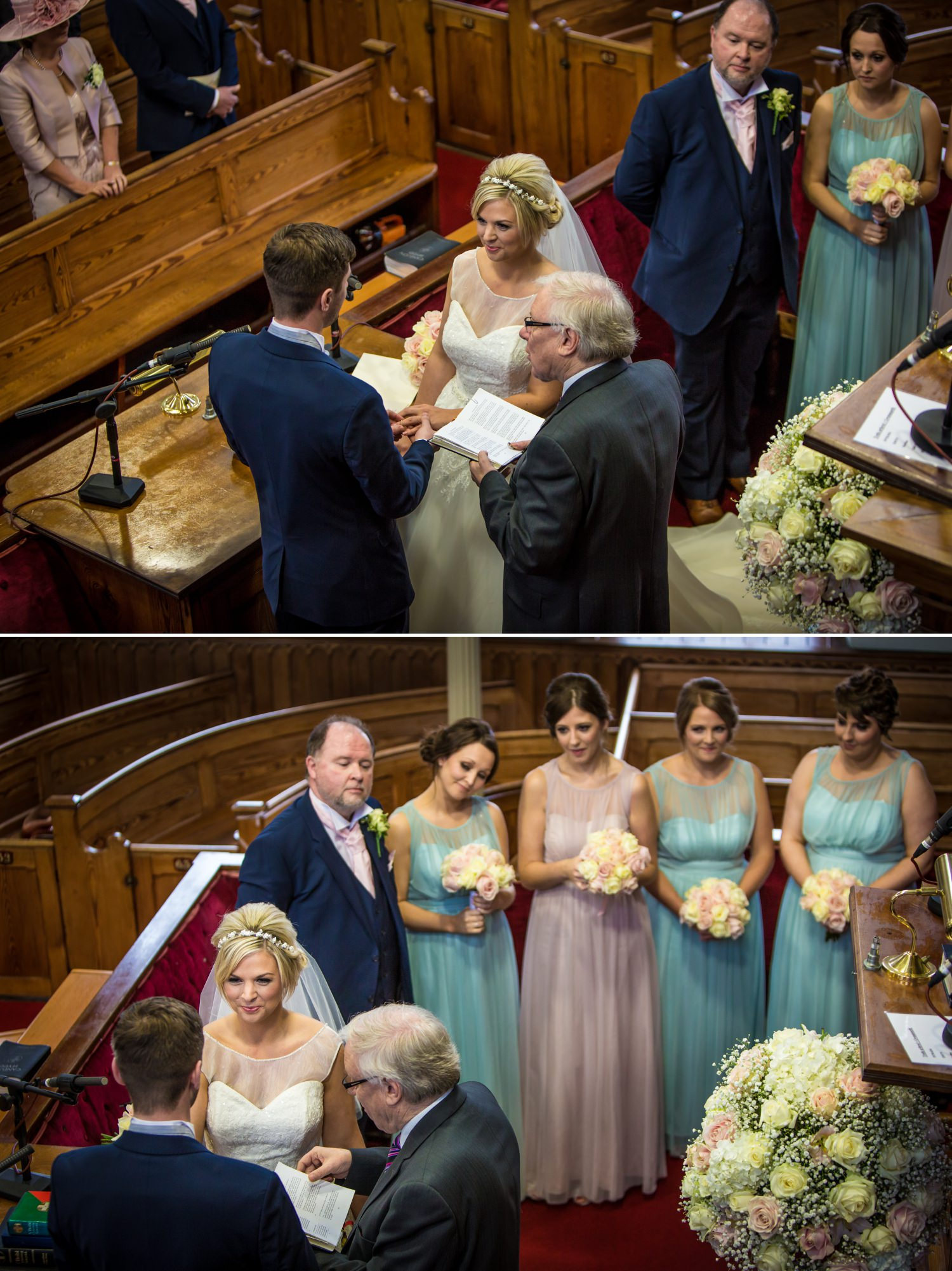 Wedding photograph of wedding ceremony at Quay Hotel, North Wales
