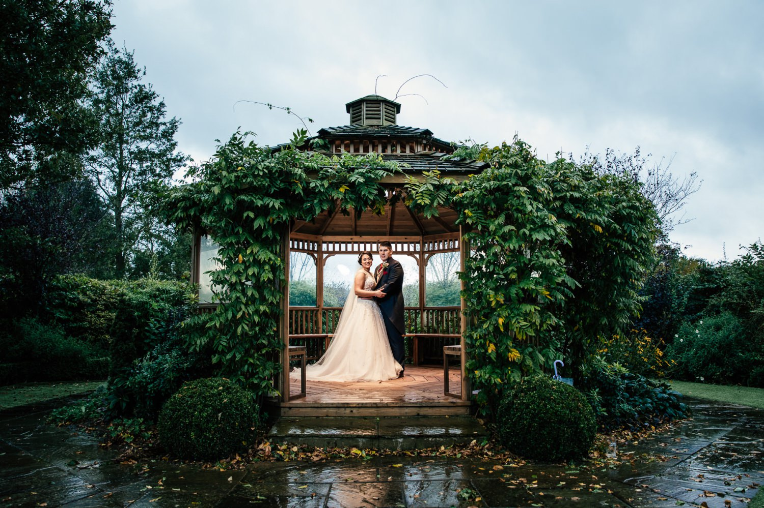 photograph in gazebo at pryors hayes
