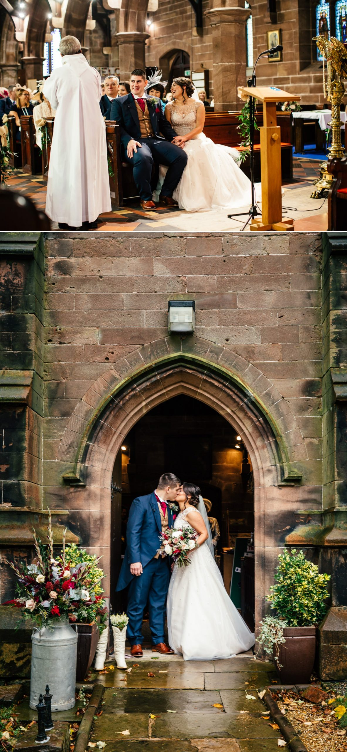 first kiss outside church