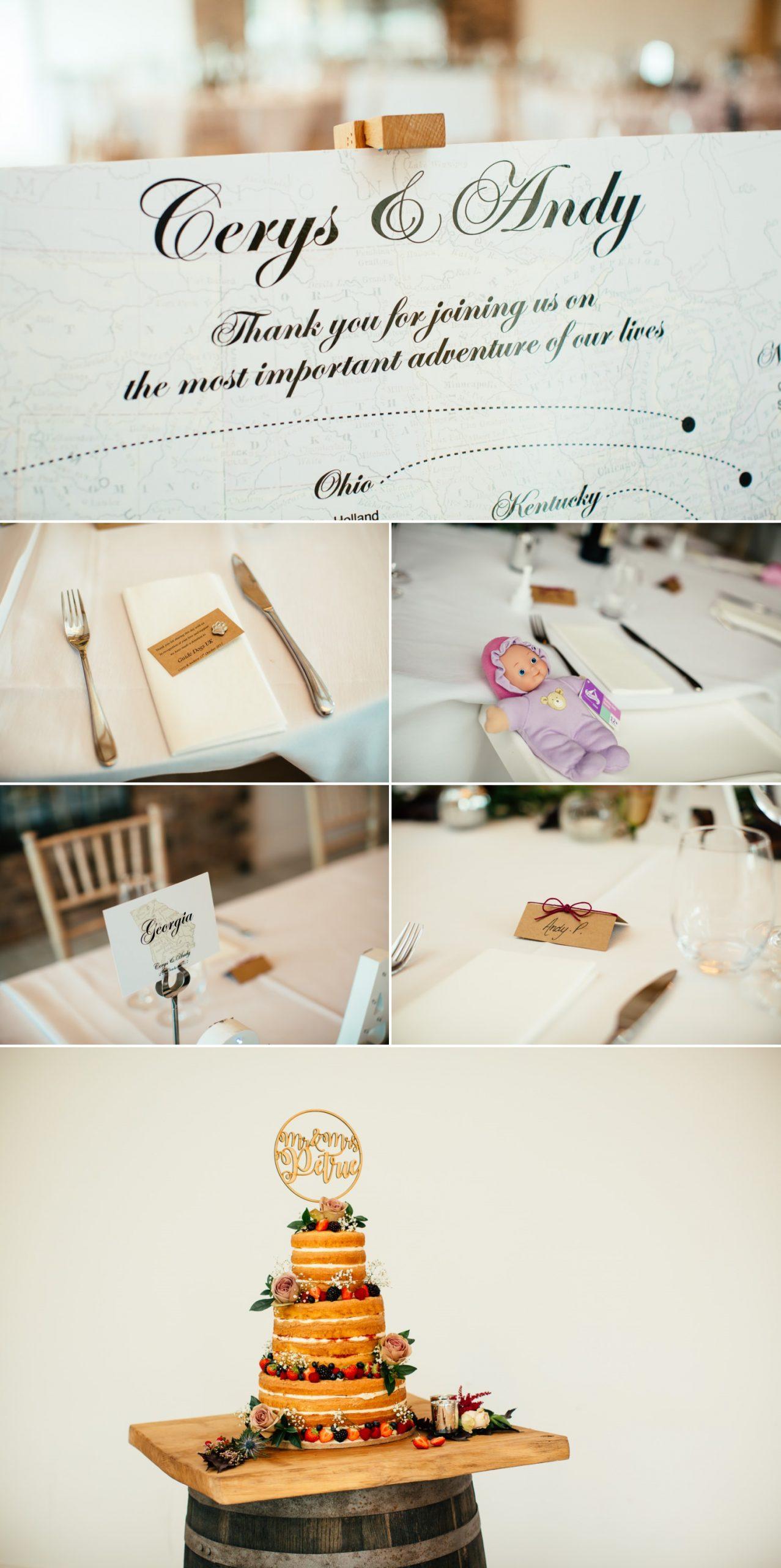 table and wedding cake