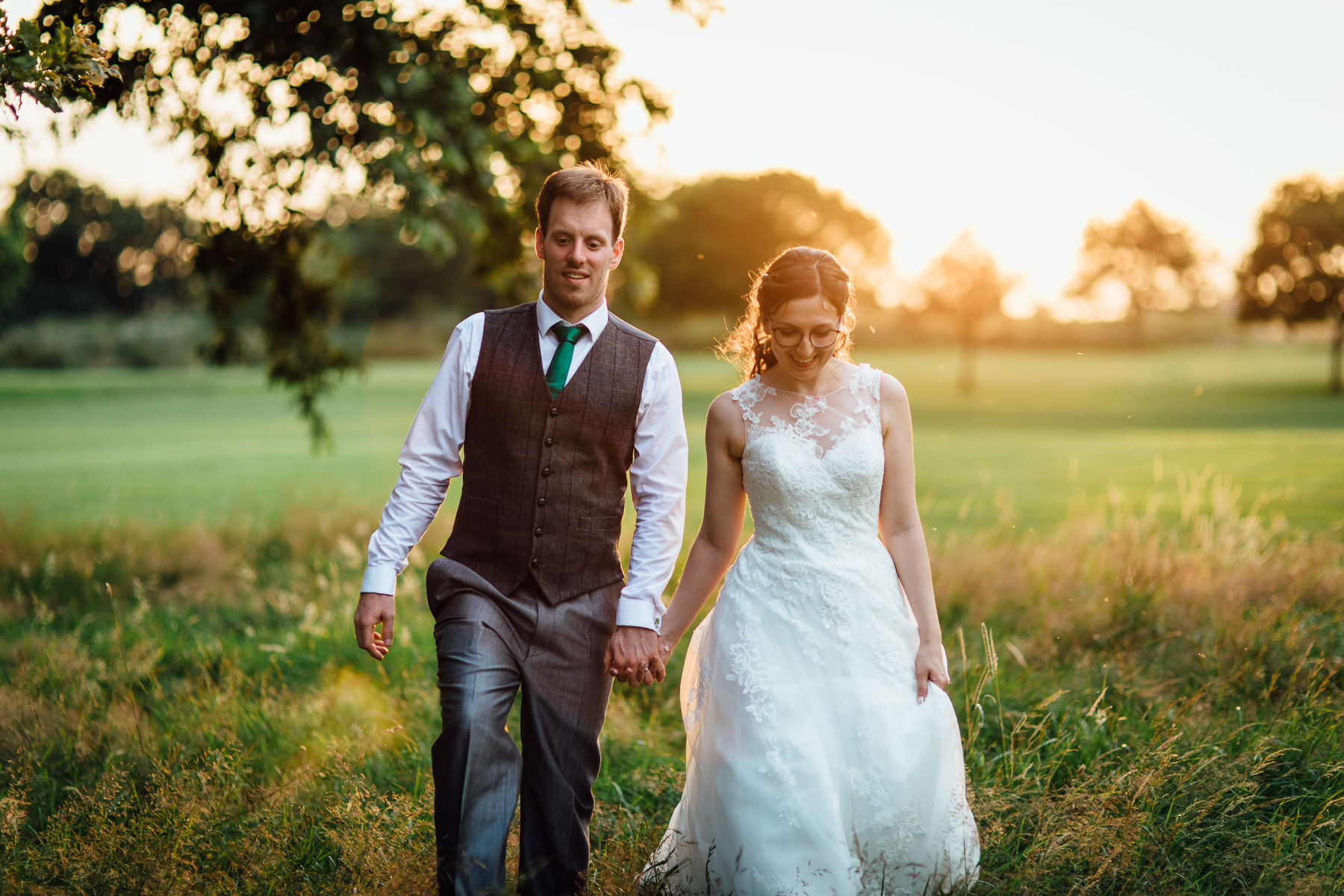 Wedding photography at Pryors Hayes of the bride and groom