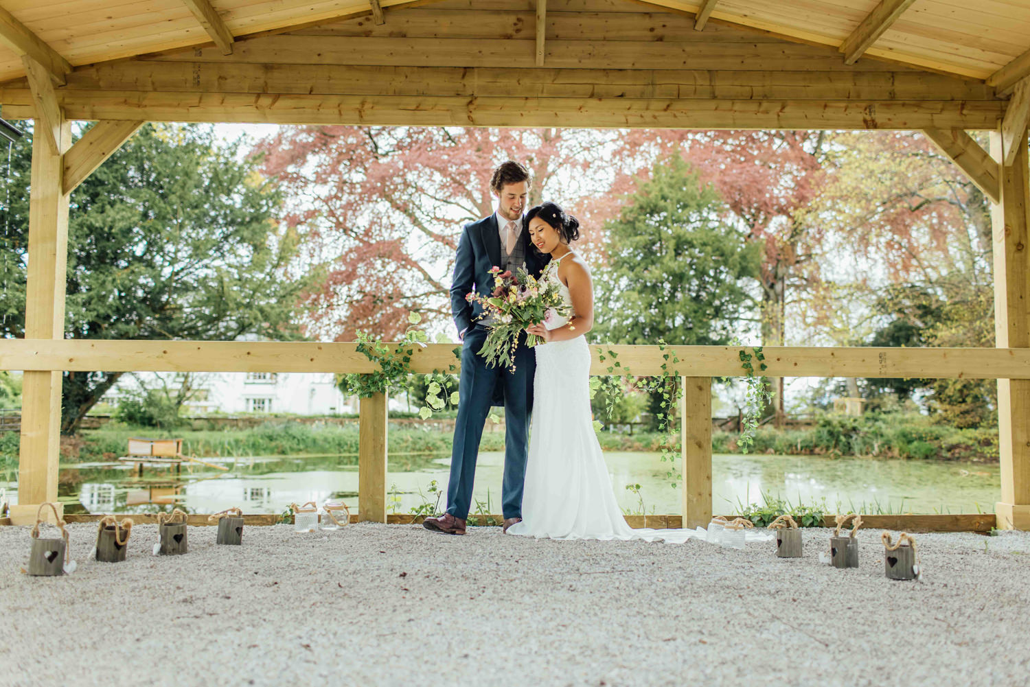 Pentre Mawrs new rustic outdoor ceremony area photograph