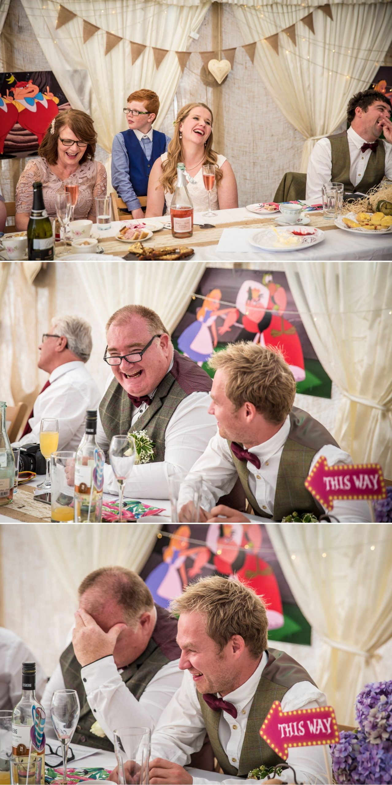 Wedding speeches at Hafod Farm