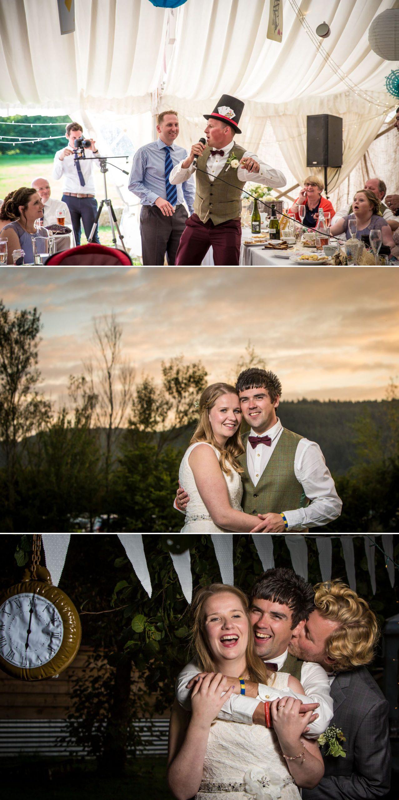 bride and groom portraits at Hafod farm