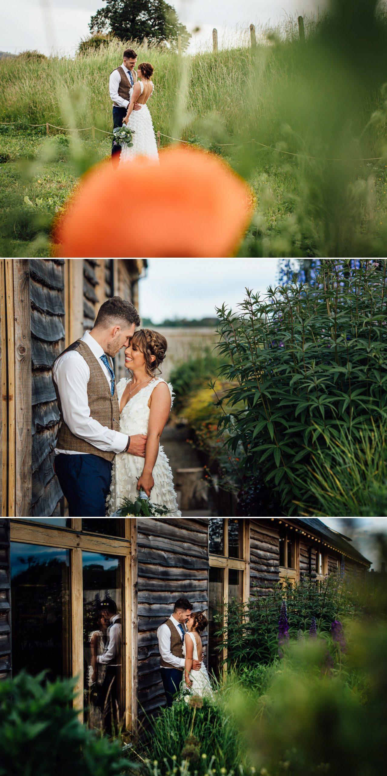 evening wedding couple photographs